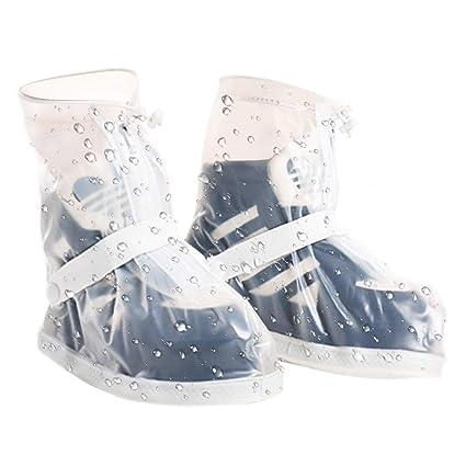 6ae382e925 VXAR Rain Shoes Covers Snow Boots Waterproof Overshoes Women Men  Transparent L