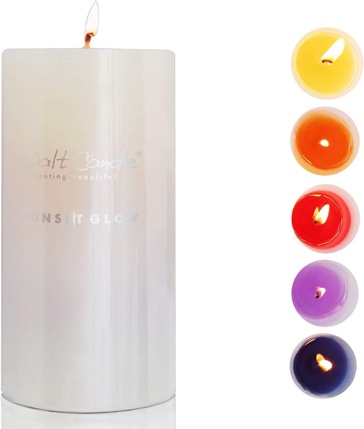Scented Candles, Color Change with Five Fragrance of Lemon & Chamomile & Cherry Blossoms & Lavender & Geranium,Long Lasting Aromatherapy Natural Candles for Wedding Party and Home Décor.
