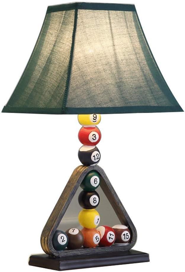 ZHANGBD Tradicional casa rústica lámpara de Mesa + Beige Tela de la Cortina, Dormitorio de la Manera Tabla lámpara ...