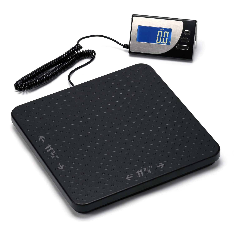 660 lb (300 kg) Digital Heavy Duty Postal Shipping Scale, Cast Aluminum Pan, Backlit LCD, AC Adapter, Multi Weight Unit, Capacity: Max 300 kg (660 lb), Min 0.5 kg (1.1 lb), Readability 0.1 kg