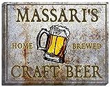 MASSARI'S Craft Beer Stretched Canvas Sign - 16