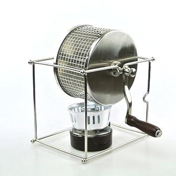 SQL La mano de la máquina de café tostado en grano tostado rodillo de acero inoxidable pequeño bricolaje: Amazon.es: Hogar