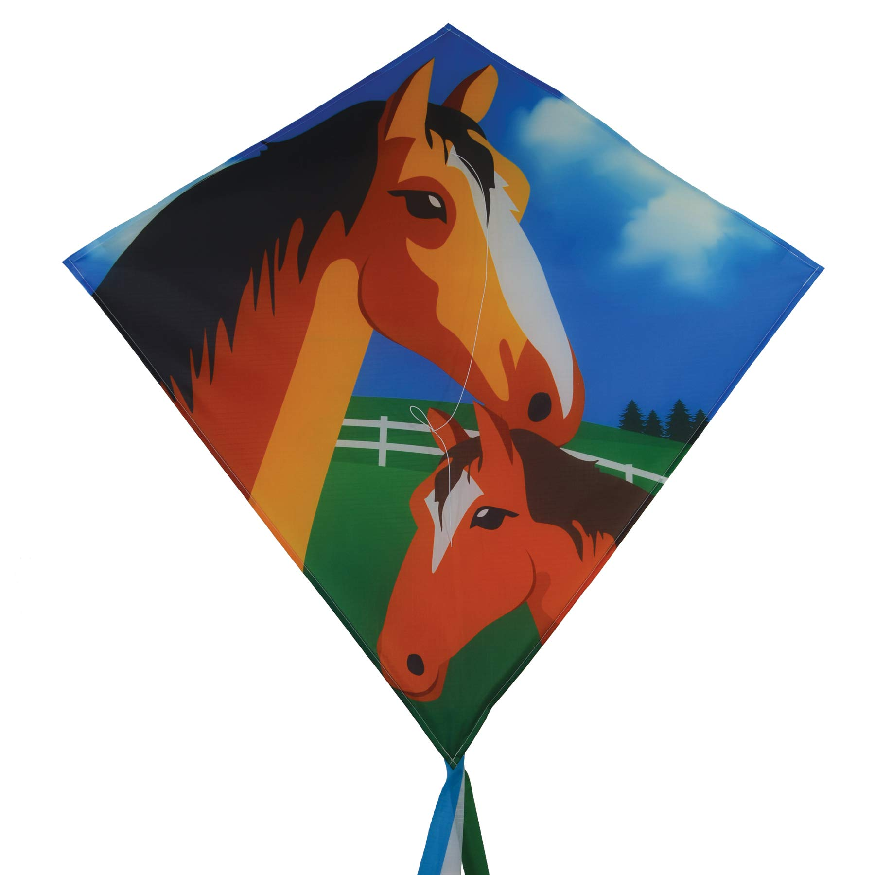 In the Breeze 3277 - Mare & Foal 30'' Diamond Kite - Fun, Easy Flying Kite by In the Breeze