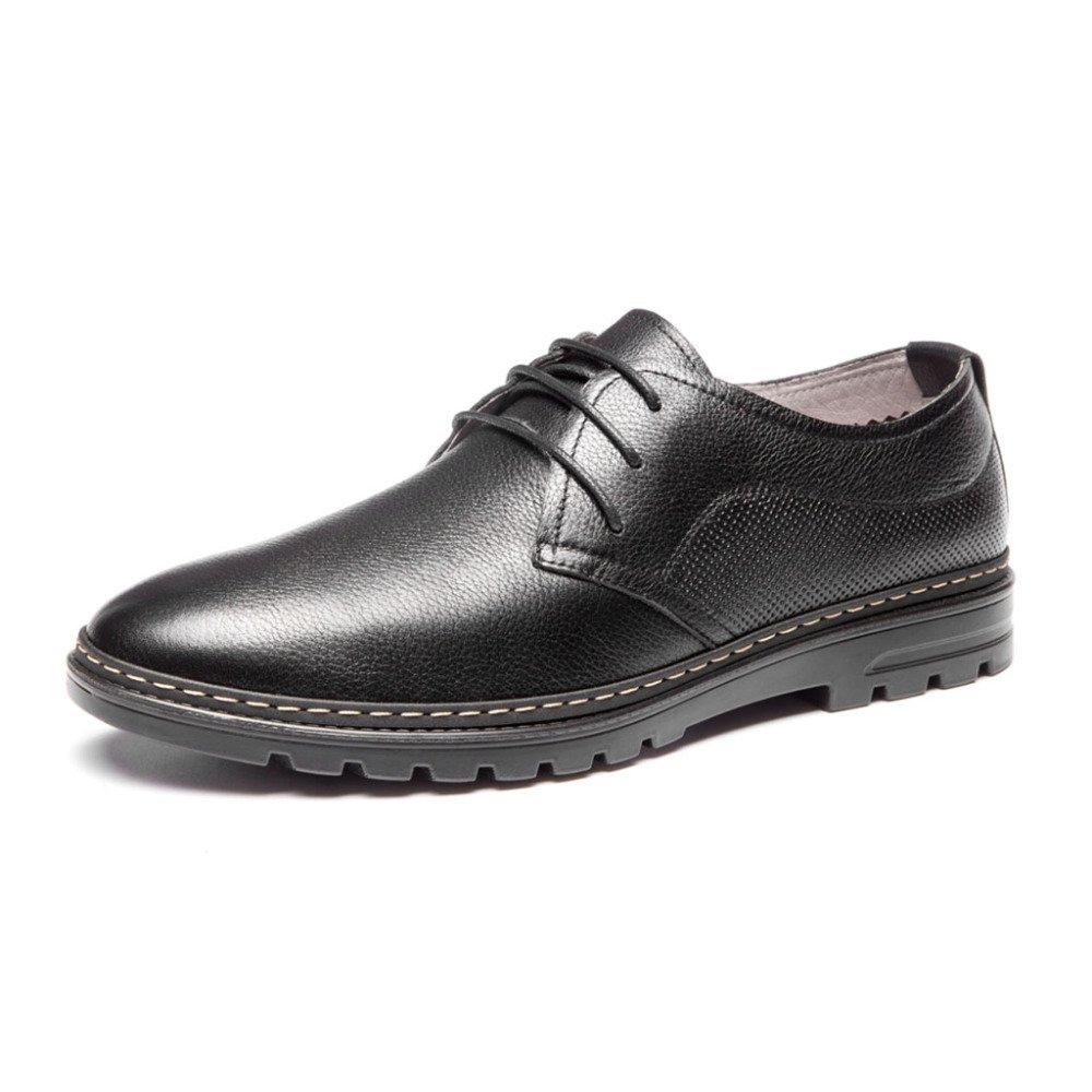 Herren Echtes Leder Schuhe Business Schuhe Casual Niedrig Schuhe Derby Schuhe Business Lace up Für Walking Party Jobs,Braun EU:38/UK:5.5 schwarz 7d7a05