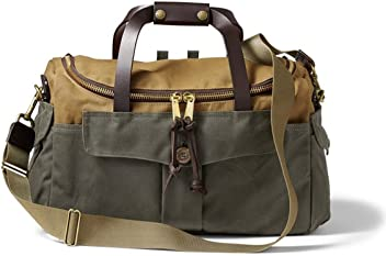 Filson Heritage Sportsman Bag Tan and Otter Green