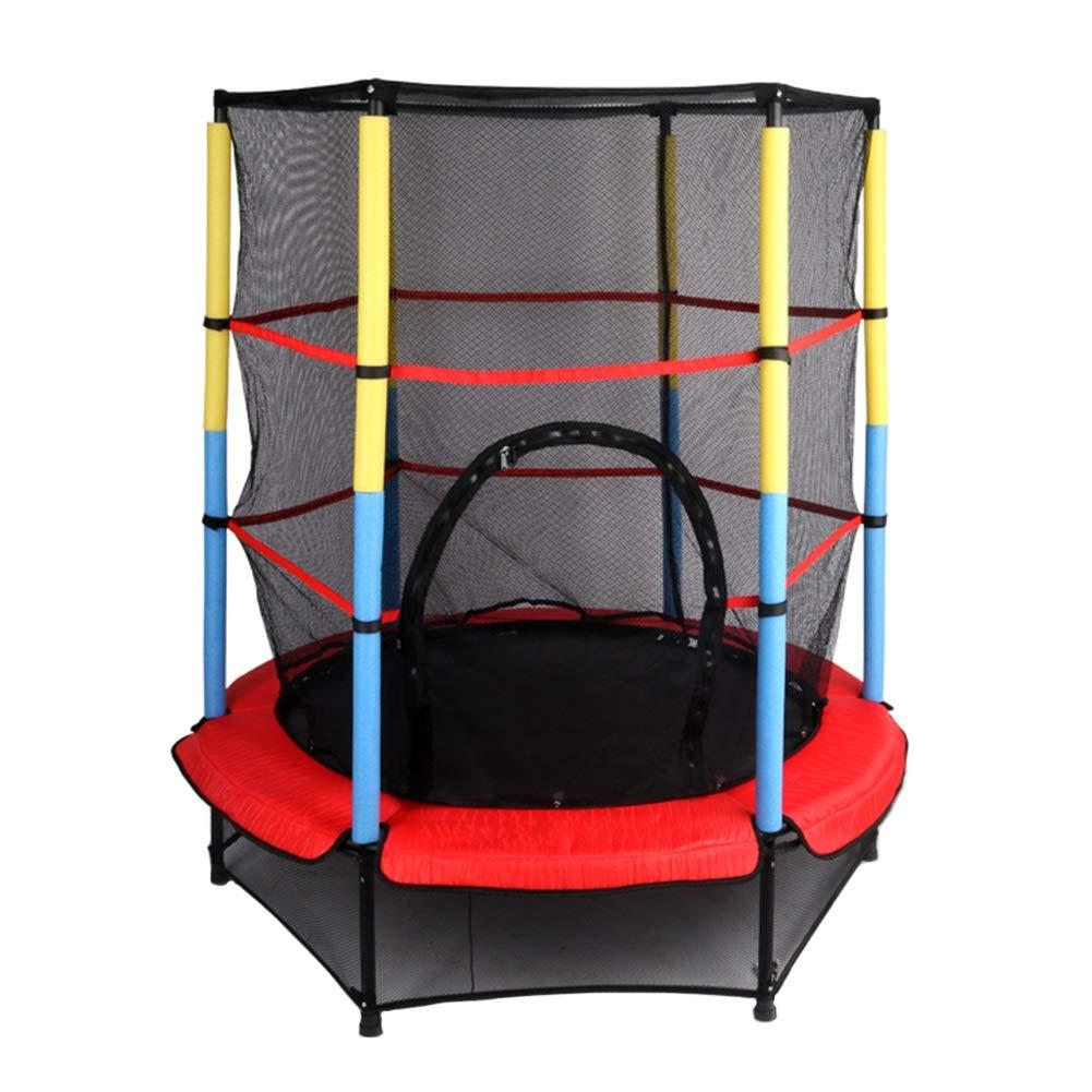 Trampolin, Indoor/Outdoor-Trampolin für Kinder mit Gehäusen Netto Ø 140 cm - Design mit elastischem Seil - Max Load 50KG