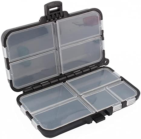 Dilwe Caja de Aparejos de Pesca 9 Compartimentos Caja de Plástico ...