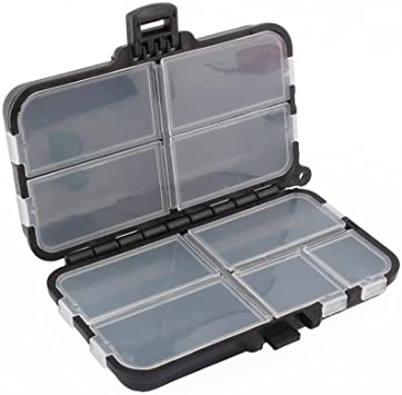 Dilwe Caja de Aparejos de Pesca 9 Compartimentos Caja de Plástico para Pescar: Amazon.es: Bricolaje y herramientas