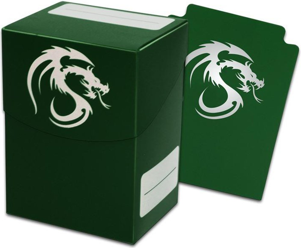 Green Trading Card Boxes - Gaming Deck Cases - Each Holds 80 Cards - DC-GRN - (90 Boxes) by BCW