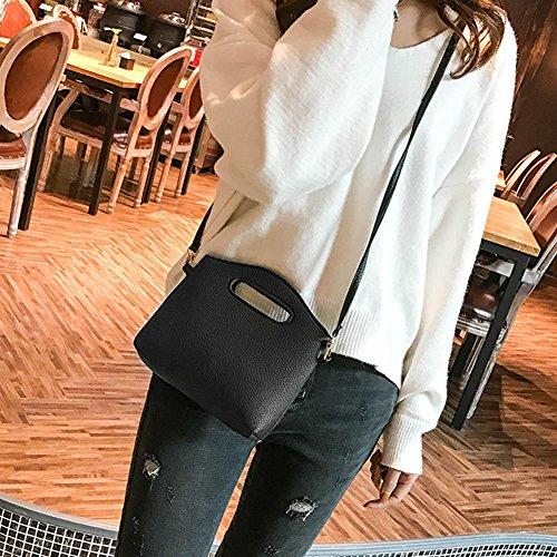 Cabina pcs Sac à PU Sac Bandoulière à à Mode Noir Couleur Pure Set 4 Sac Main Embrayage Femmes La Cartes EqwdfCE