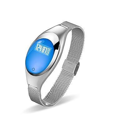 Likeit Z18 mujeres bisutería pulsera inteligente de la presión arterial Monitor de ritmo cardíaco salud Bluetooth