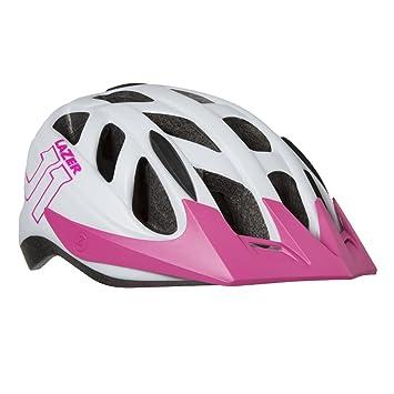 Lazer J1 juventud casco de ciclismo, blanco y rosa