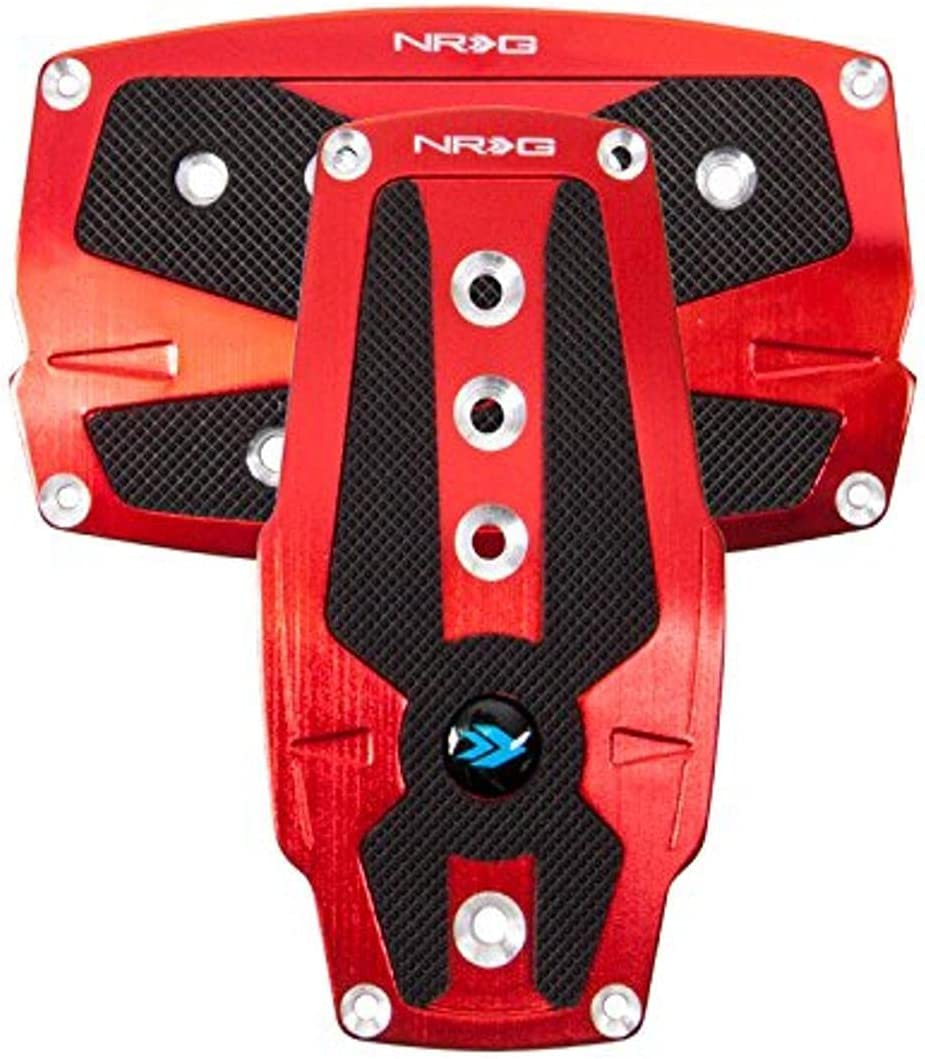 NRG Innovations PDL-250RD Brushed Red Max 47% OFF Aluminum Pedal Max 64% OFF with Sport