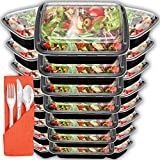 Meal Prep Containers 24 Pack with Lids   28oz BPA-Free Food Storage and Portion Control by Prep Naturals ()