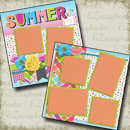 SUMMER - Premade Scrapbook Pages - EZ Layout 2125 ()