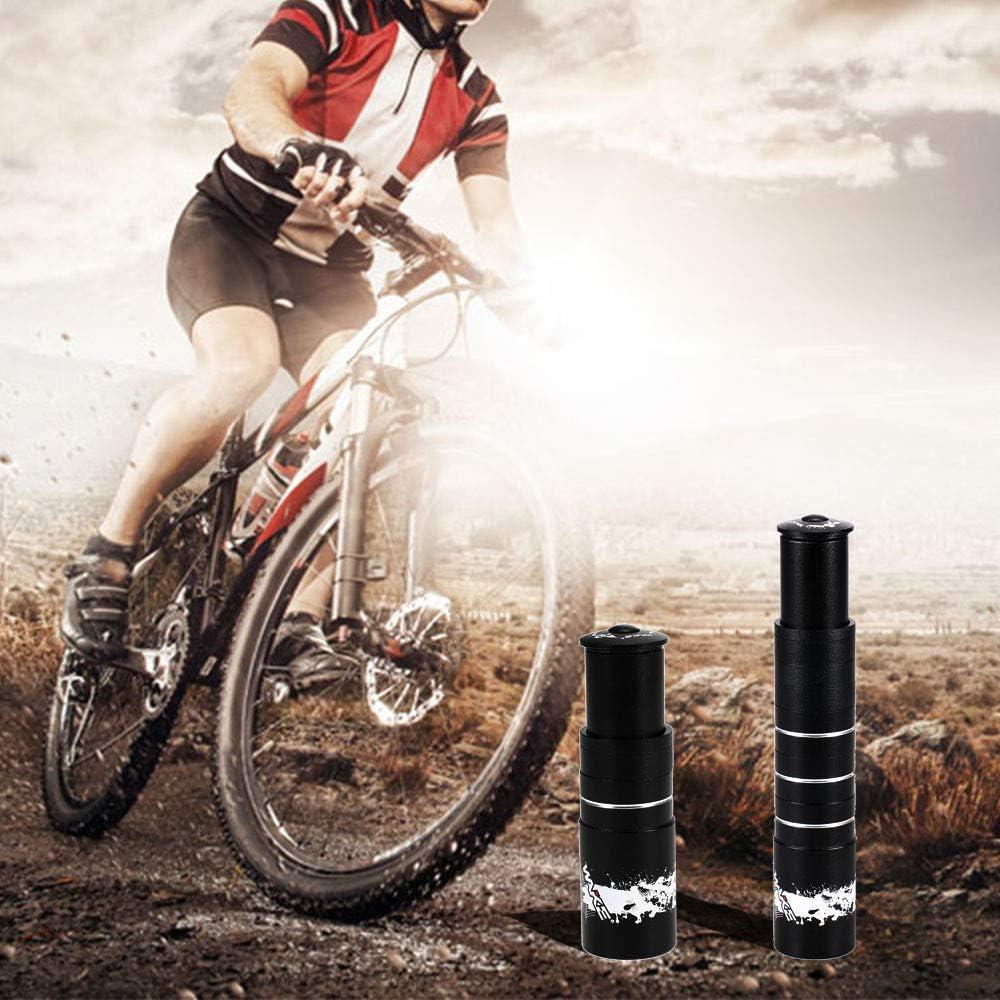 Lixada Aleaci/ón de Aluminio Bicicleta Tenedor Tallo Riser Extender Extensi/ón Bicicleta Ciclismo Bicicleta V/ástago Cabeza Levantador