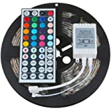 LED Strip Lights Color Change | Waterproof Flexible Tape Light with 44 Key Remote Control 5M 5050 RGB SMD LED Bedroom Lights (from US, Colorful)