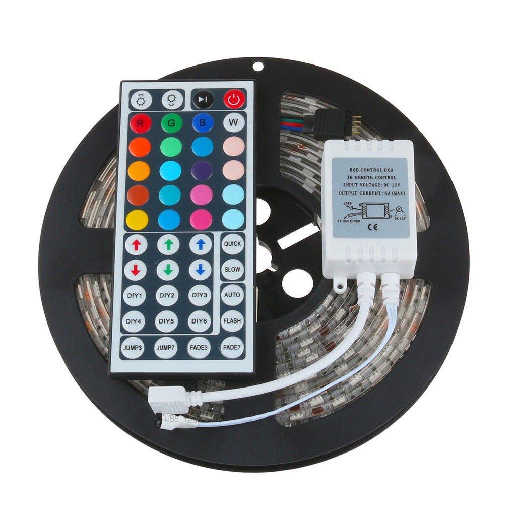 SuperUS 2Pcs USB Powered RGB 5050 LED Strip Lighting for TV Computer Background Light