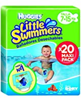 Huggies - 2900251- Little Swimmers Maxi Pack - Taille 3/4 - 7-15 kg x 20 Couches