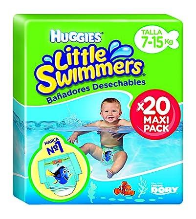 bca12cee4b4b Huggies Little Swimmers Pañal Bañador Desechable Talla 5-6 (12-18 Kg) - 19  unidades: Amazon.es: Salud y cuidado personal