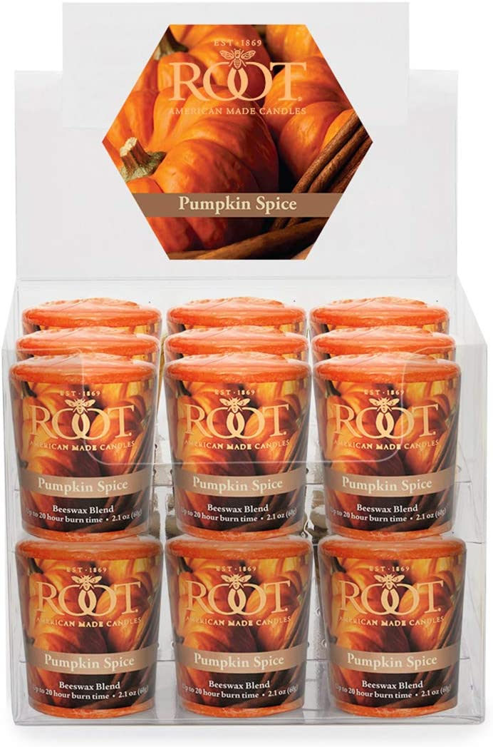 Root Candles, Candle Votive 20Hr Pumpkin Spice 2 Ounce