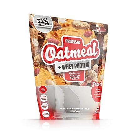 Prozis Oatmeal con Whey Protein 1000g - Cereales Repletos de Hidratos de Carbono de Alta Calidad y Fibras Saciantes -Sabor Crema de cacahuete -Apto ...