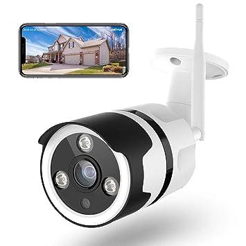 Cámaras de Vigilancia WiFi Exterior, NETVUE Full HD 1080P Cámara IP WiFi Compatible con Alexa, Impermeable IP66 Seguridad Inalámbrica con Versión ...