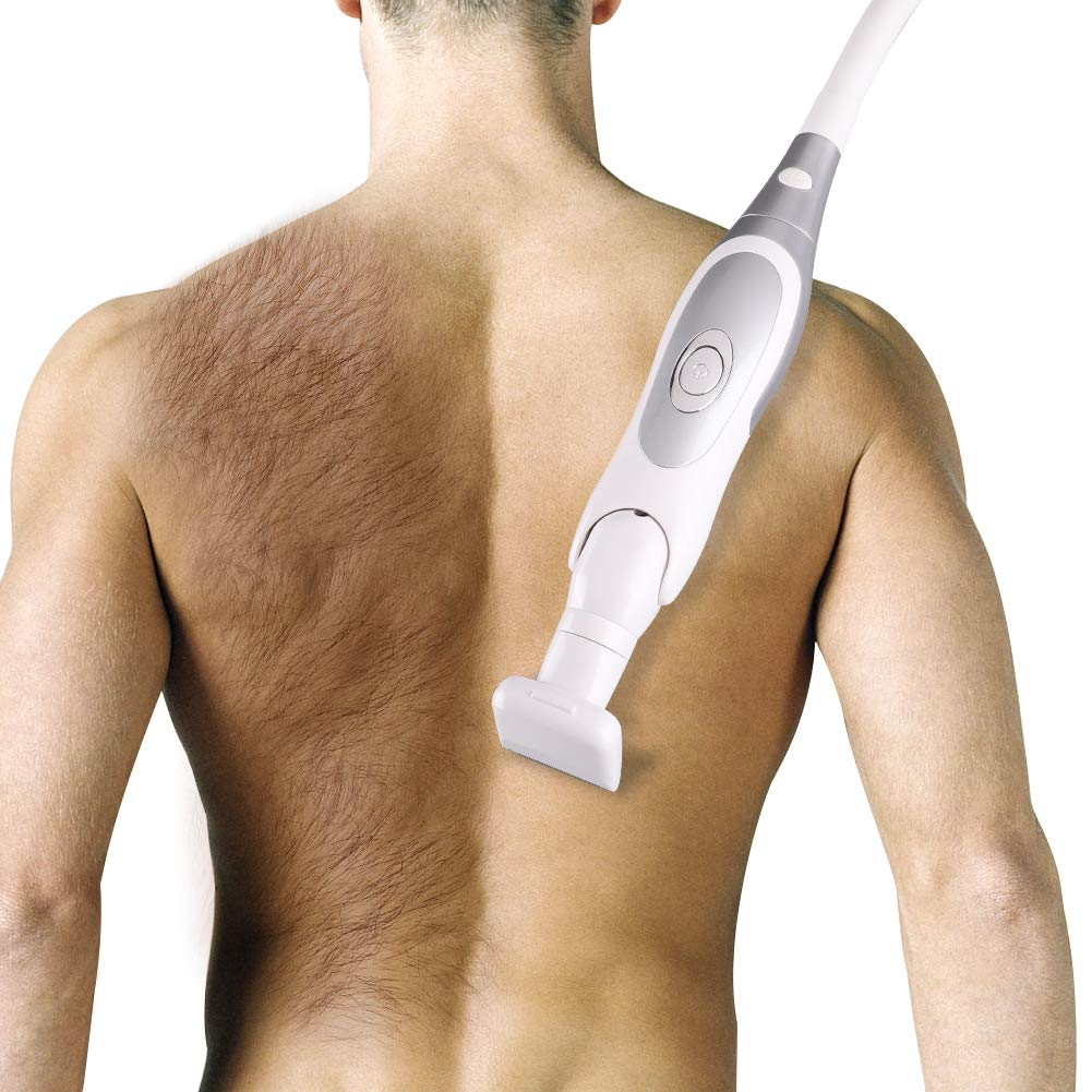 ARTIFUN Body Back Hair Shaver Pain-Free Wet & Dry, Body Groomer Folding Design & Removable Handle Refreshing Hairless