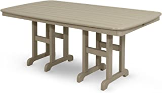 product image for Trex Outdoor Furniture TXNCT3772SC Yacht Club Dining Table, 37 by 72-Inch, Sand Castle