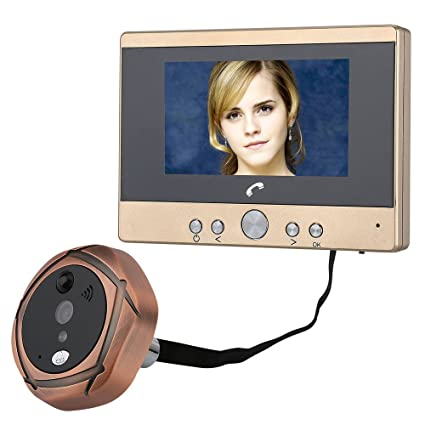 Video Intercom 4.3 Tft Lcd Screen Digital Peephole Door Viewer Camera Pir Motion Detection Doorbell 160 Degree Wide Angle Ir Night Vision