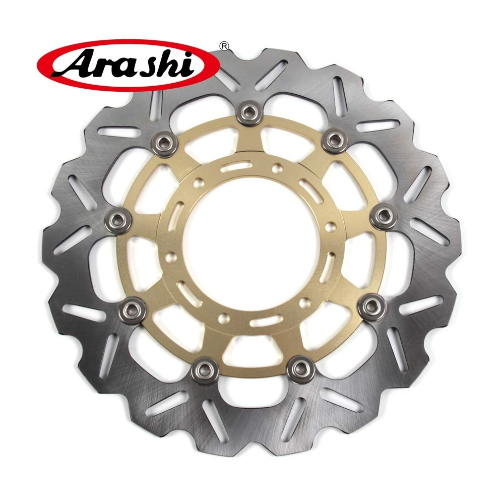 Arashi Front Brake Disc Rotor for Suzuki GSXR 600 2008-2014 Motorcycle Replacement Accessories GSX R GSX-R GSXR600 750 1000 Gold 2009 2010 2011 2012 2013 by Arashi (Image #2)