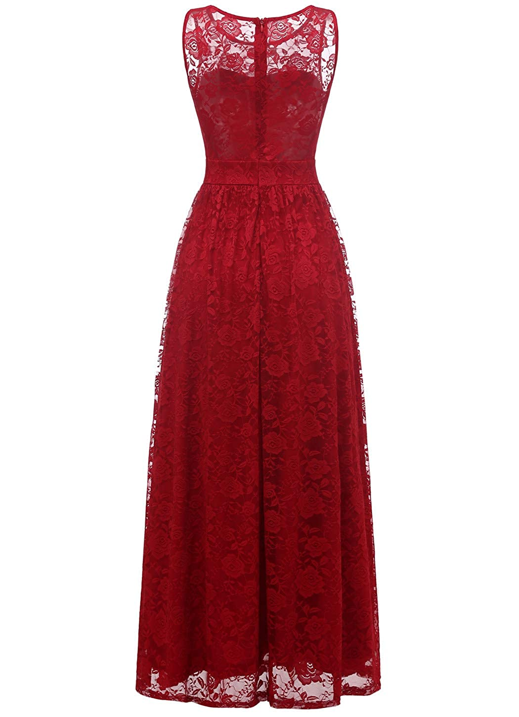 Wedtrend Womens Floral Lace Long Bridesmaid Dress Party Gown