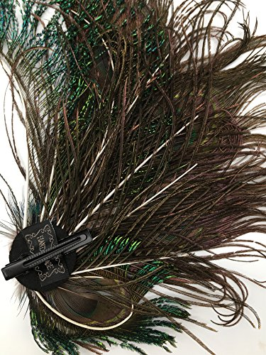 Women Girls Peacock Feather Hair Clip Retro Wedding Carnival Party Hairpin by TCYIN (Image #5)