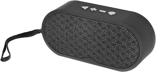 Busirde Caja estéreo TF Altavoz portátil inalámbrico Bluetooth Retro Tarjeta Bluetooth Wireless Juego Altavoces Música Construir-en el micrófono de Manos Libres de Llamadas Negro: Amazon.es: Hogar