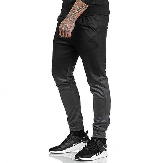 ♚ Pantalones de la Moda de los Hombres, Sport Jogging Fitness Pant Casual Loose Sweatpants Drawstring Pant Absolute: Amazon.es: Ropa y accesorios