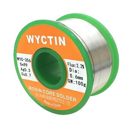 wyctin 356 0,6 mm alambre de soldadura sin plomo SN 99-ag 0.3