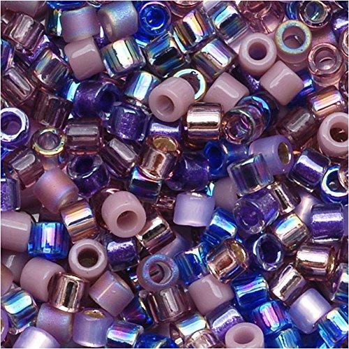 Miyuki Delica Seed Beads Mix Lot 11/0 Lilacs Purples 7.2 Grams