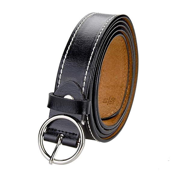 TEAMMAO Cinturón para Mujer Cinturón Piel 110CM-150CM ...