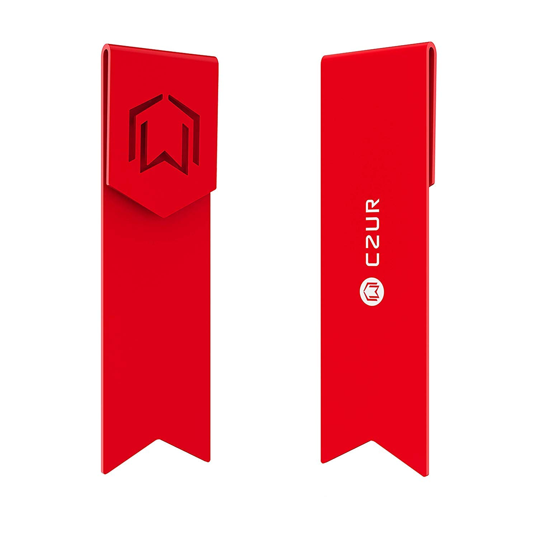 CZUR Metall Lesezeichen - Einzigartige Geschenk Lesezeichen fü r Frauen und Mä nner hergestellt aus Luftfahrtaluminium fü r langlebige Verwendung (Candy Apple Rot)
