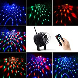LED Party Light, BizoeRade Stage Lights 7 Color Changes Disco Light with Remote Control for Party Birthday Outdoor Bar Room Club