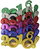 2016! New Years Eve Party Glasses (Solid Glitter!)- Pack Of 6