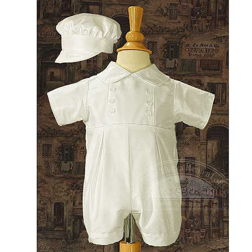 Baby Boys Cute White Silk Buttoned Baptism Christening Outfit Set 24M