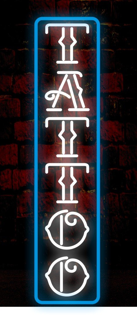 Mirsne neon signs, glass tube neon lights, 10'' by 30'' inch Tattoo neon signs bar, the best neon sign custom supplied for a wide range of personal uses.