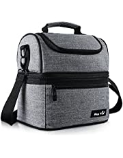 Lunch Bag for Women, Insulated Lunch Box for Men/Kids, Large Cooler Tote Bag for Office/School/Picnic with Dual Spacious Compartments