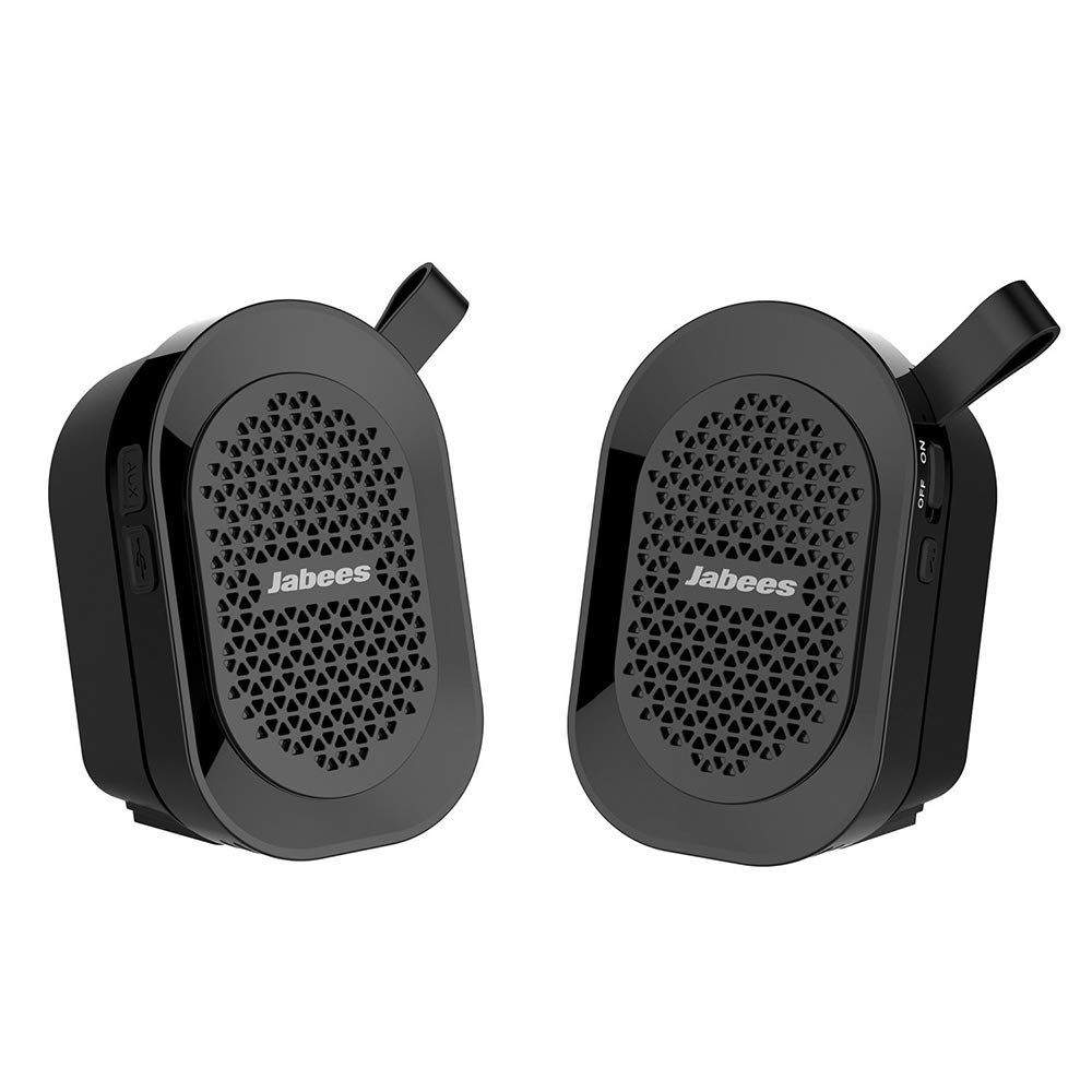 JABEES Beatbox Mini Twin Bluetooth Speaker/Stereo (Black)