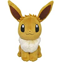 "Sanei Pokemon All Star Series Eevee Stuffed Plush, 8"""