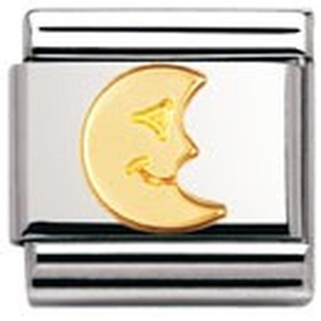 Acier inoxydable et Or jaune 18 cts Nomination Maillon pour bracelet composable 030110 Femme