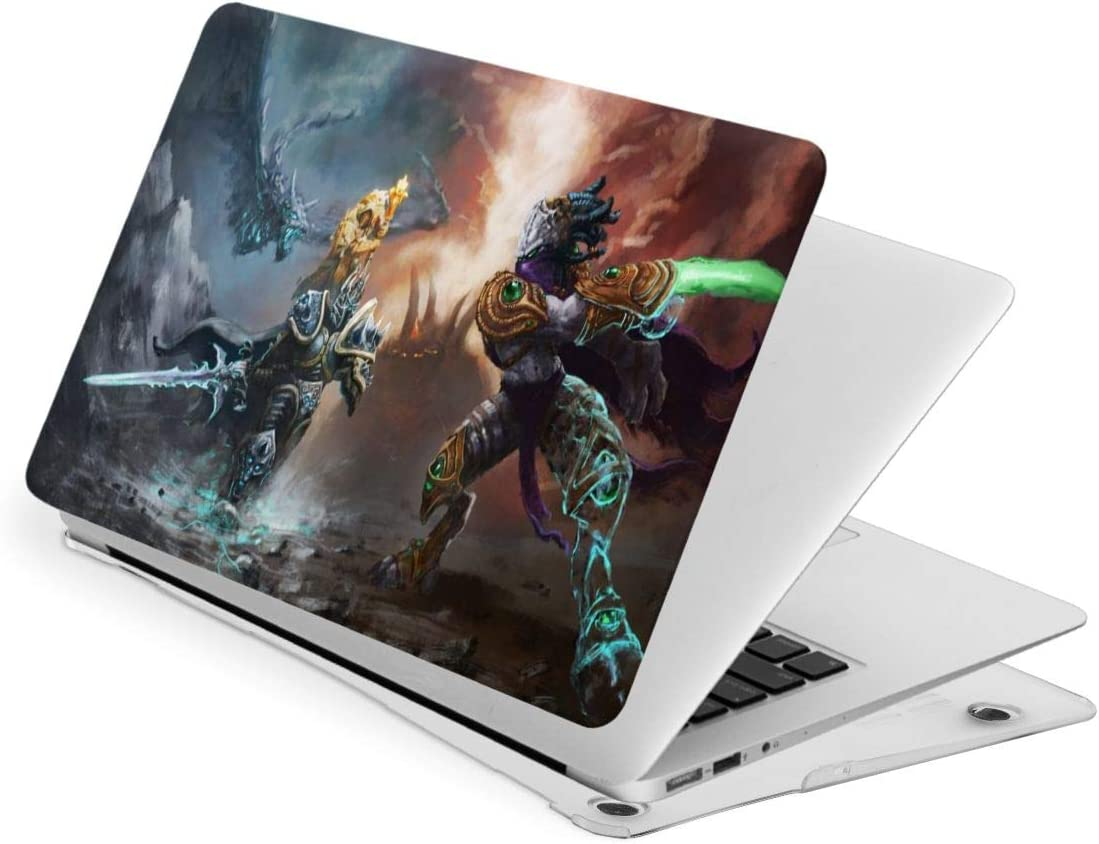 World Warcraft Lich King Laptop Case MacBook Non-Slip Durable Waterproof Plastic Hard Shell Case,for MacBook New Air 13//Air 13//15 Inch//Touch 13//15inch PVC Laptop Protective Cover touch13
