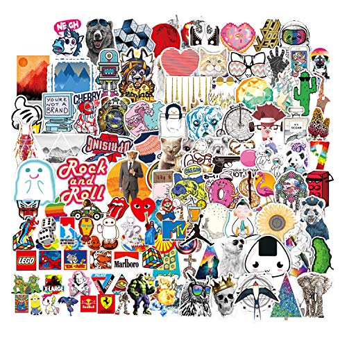 Waterproof Stickers Pack(400 Pcs) for Laptop, Luggage, Car, Motorcycle, Bicycle, No-Duplicate, Random