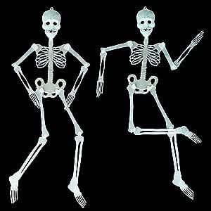 Halloween skeleton decoration glow in the dark length of 90 cm